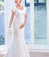 Modest Bridal Gown: Emily