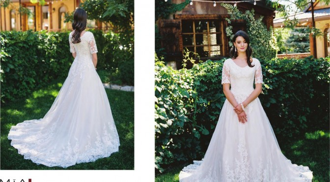 Modest Bridal Gown: Stella
