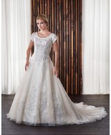 Modest Bridal Gown: Allison